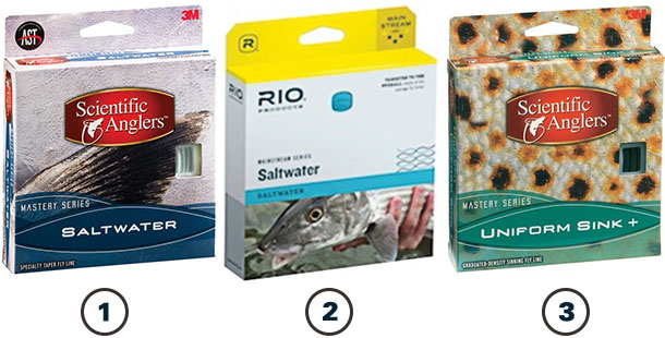 Saltwater fly fishng line options