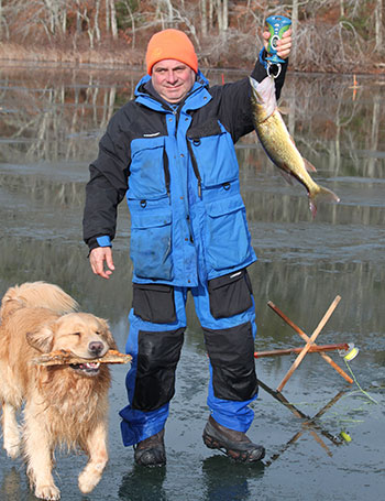 The clear, black ice in the background can result in some of the best ice-fishing of the year.