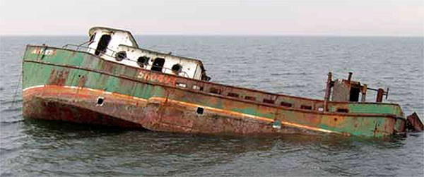 The Miss Beth, an 80' commercial fishing boat, was the 22nd boat to be sunk on the Cape May Reef site.