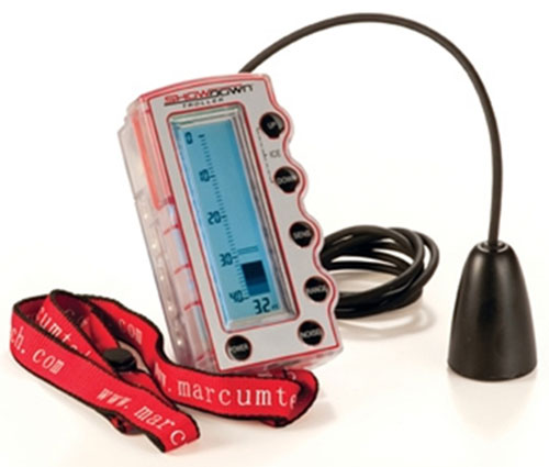 A portable sonar system, like this Marcum Ice Troller, will help you elminate unproductive water quickly.