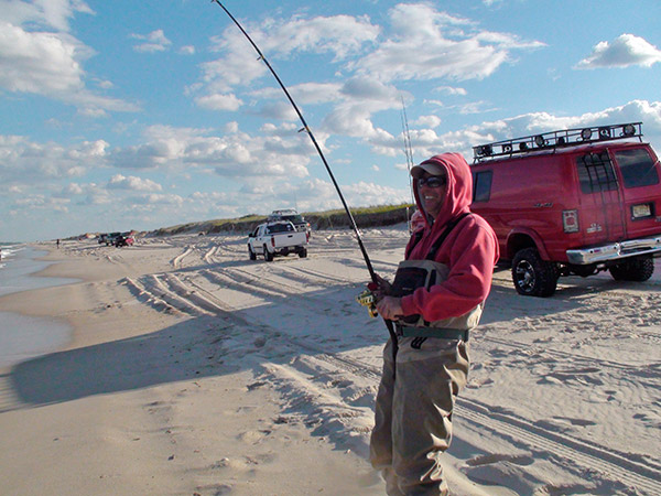 Beach-driving anglers can stay mobile and always keep an eye out for feeding fish as they drive down the sand.