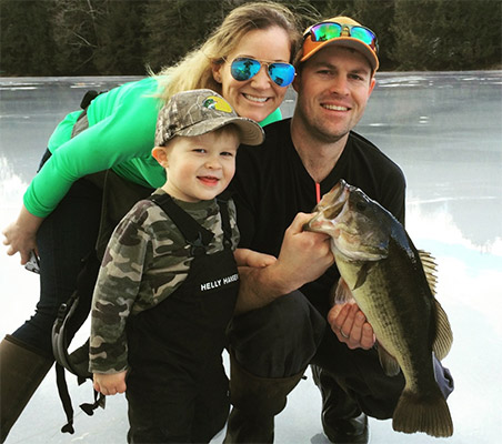 Dan and Sara Rondeau of Chester, NH, and son Cash