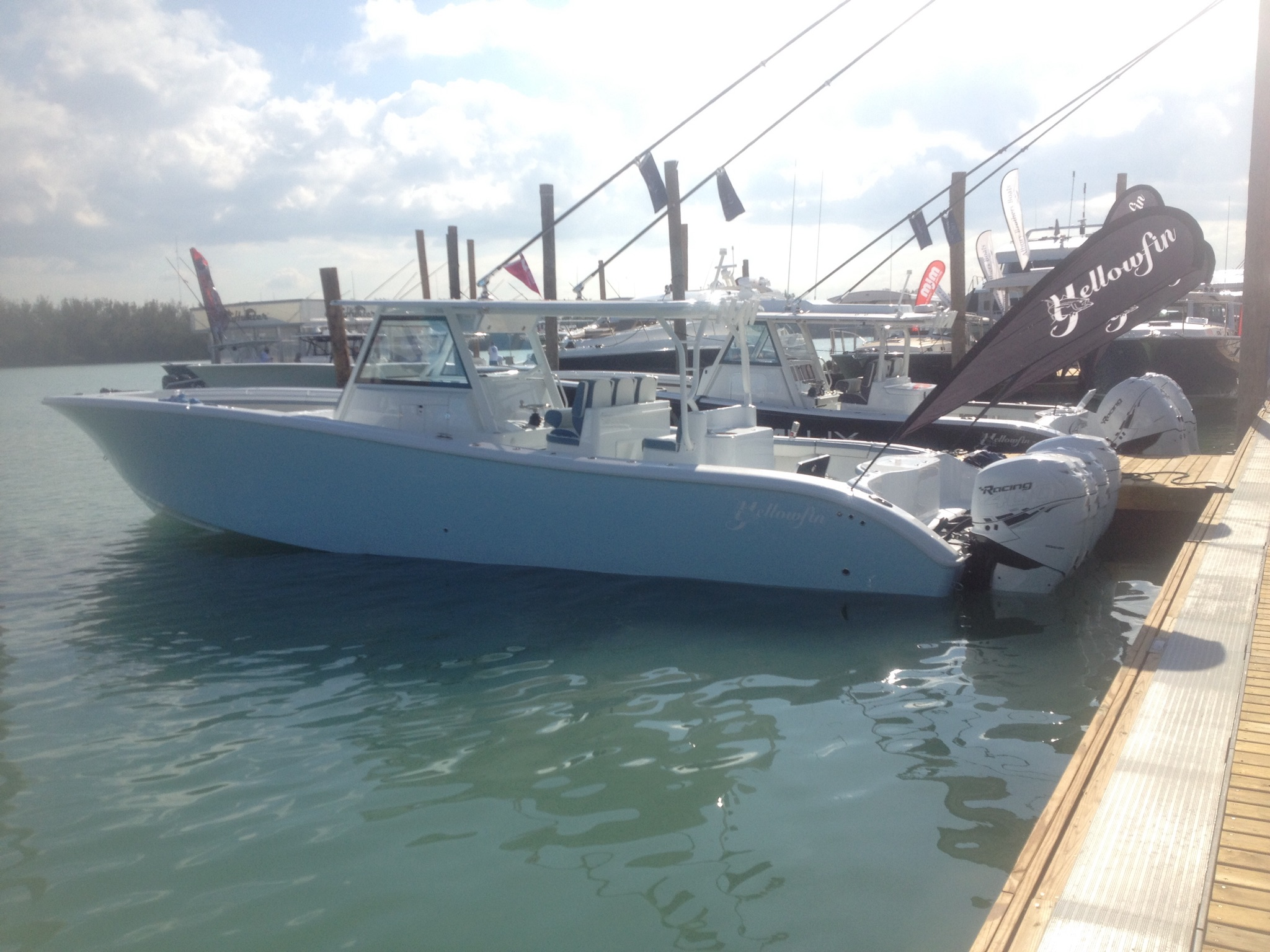 Miami boat show new boats photos new sport fishing for New fishing boats