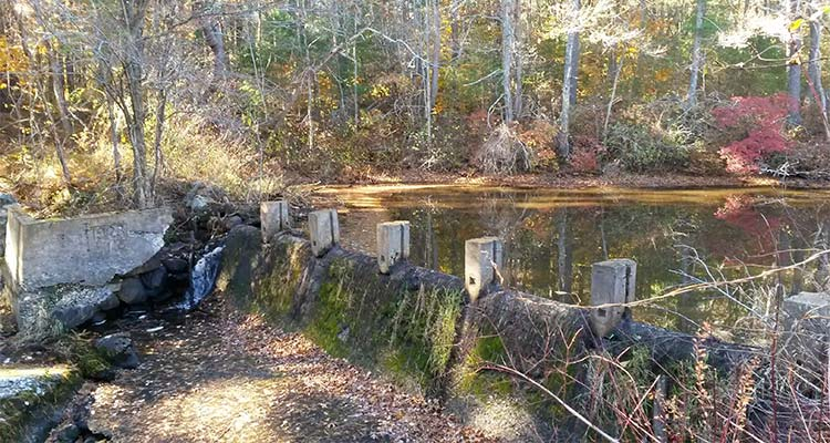 The tack factory dam before removal