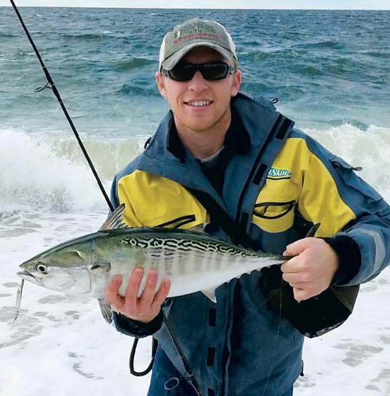 When it's too rough to fish from your boat, the surf is probably just right for false albacore encounters.