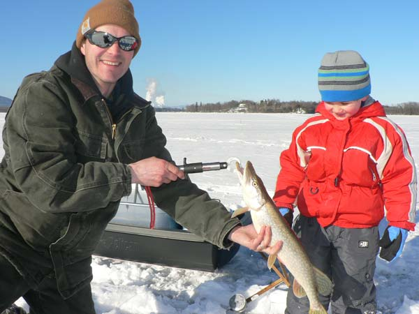 cold weather has created good ice fishing conditions