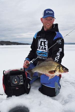 White perch will hit hard and give a great fight on a jigging setup.