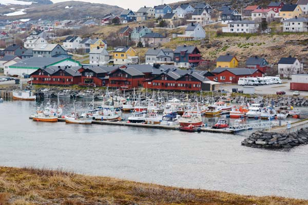 Picturesque Havoysund harbor.