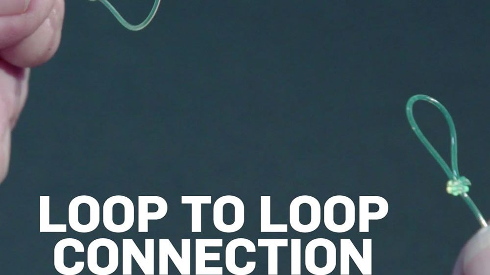 how to tie loop to loop connection knot