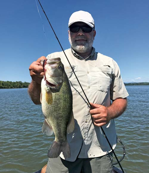 Roy Gangloff is a fan of using big worms on Lake Champlain