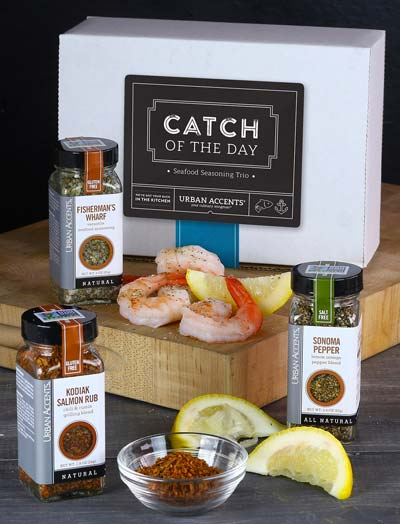 Urban Accents CATCH OF THE DAY Seafood Spice Seasoning Gift Set