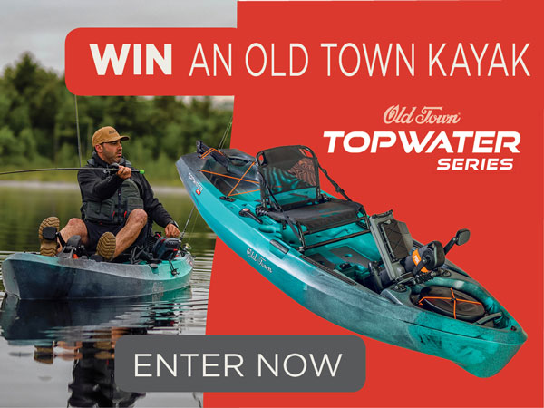 Win A New Old Town Topwater Series Fishing Kayak