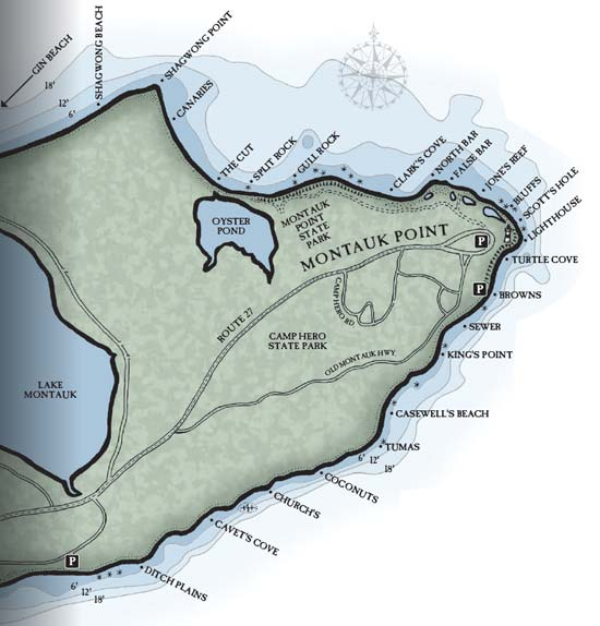 Montauk Point fishing access