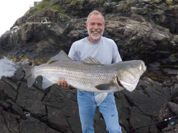 Dave Flaherty with 40-pound striped bass