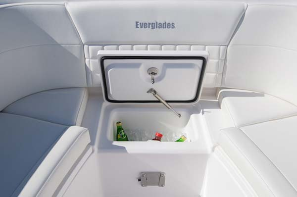 Everglades 340DC bow cooler