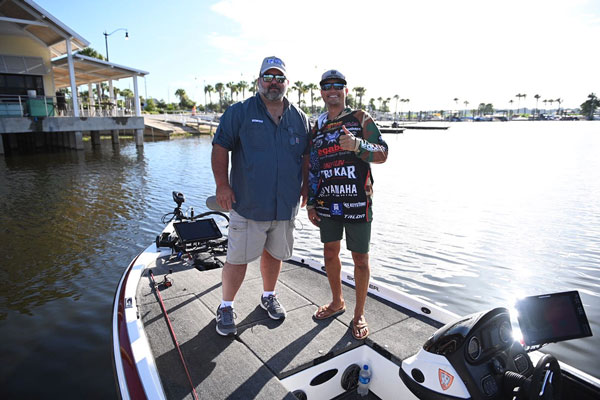 David Lowrie and pro angler Chris Zaldain
