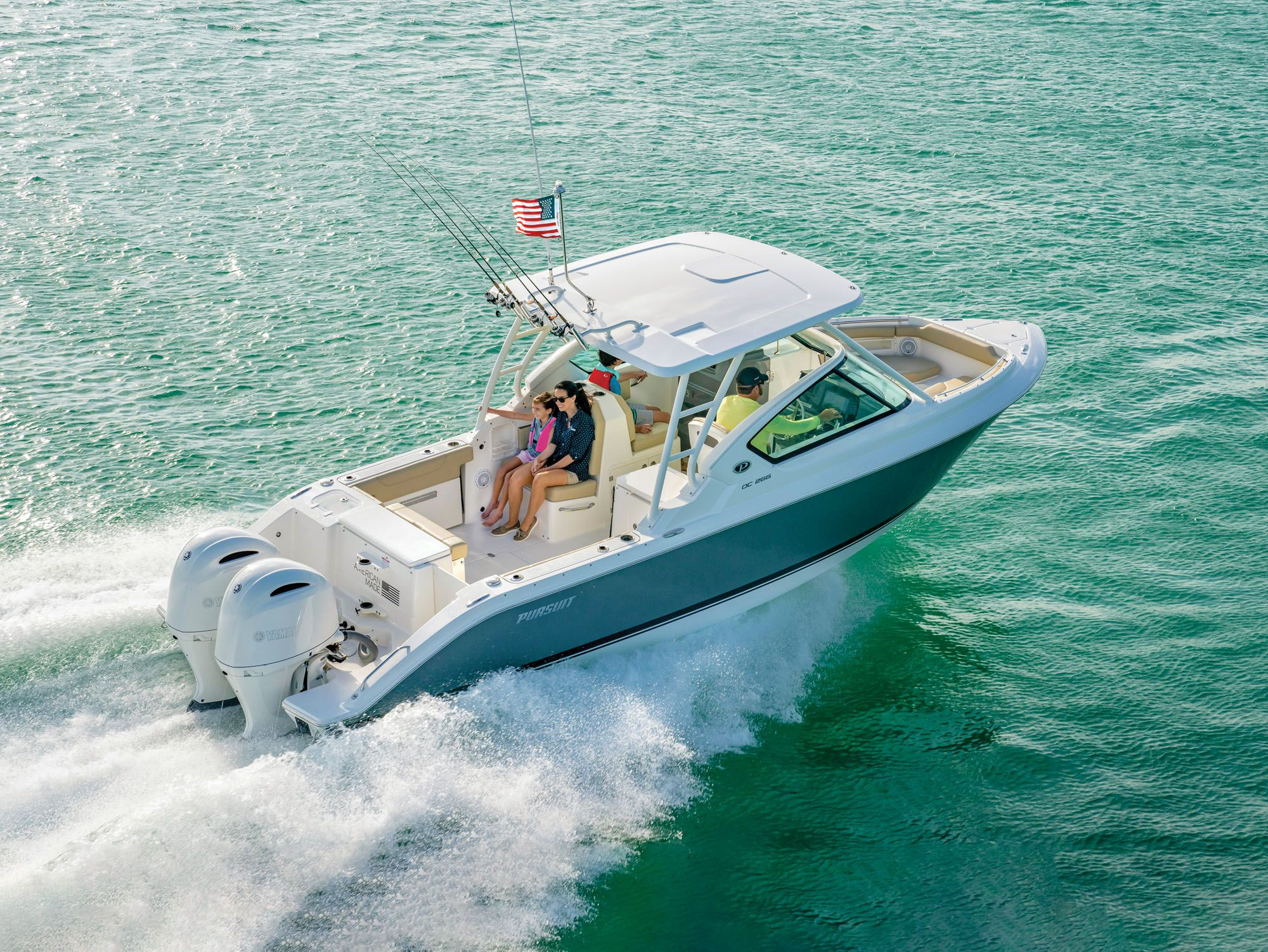 The DC 266 is capable of casual fishing, cruising and family time.