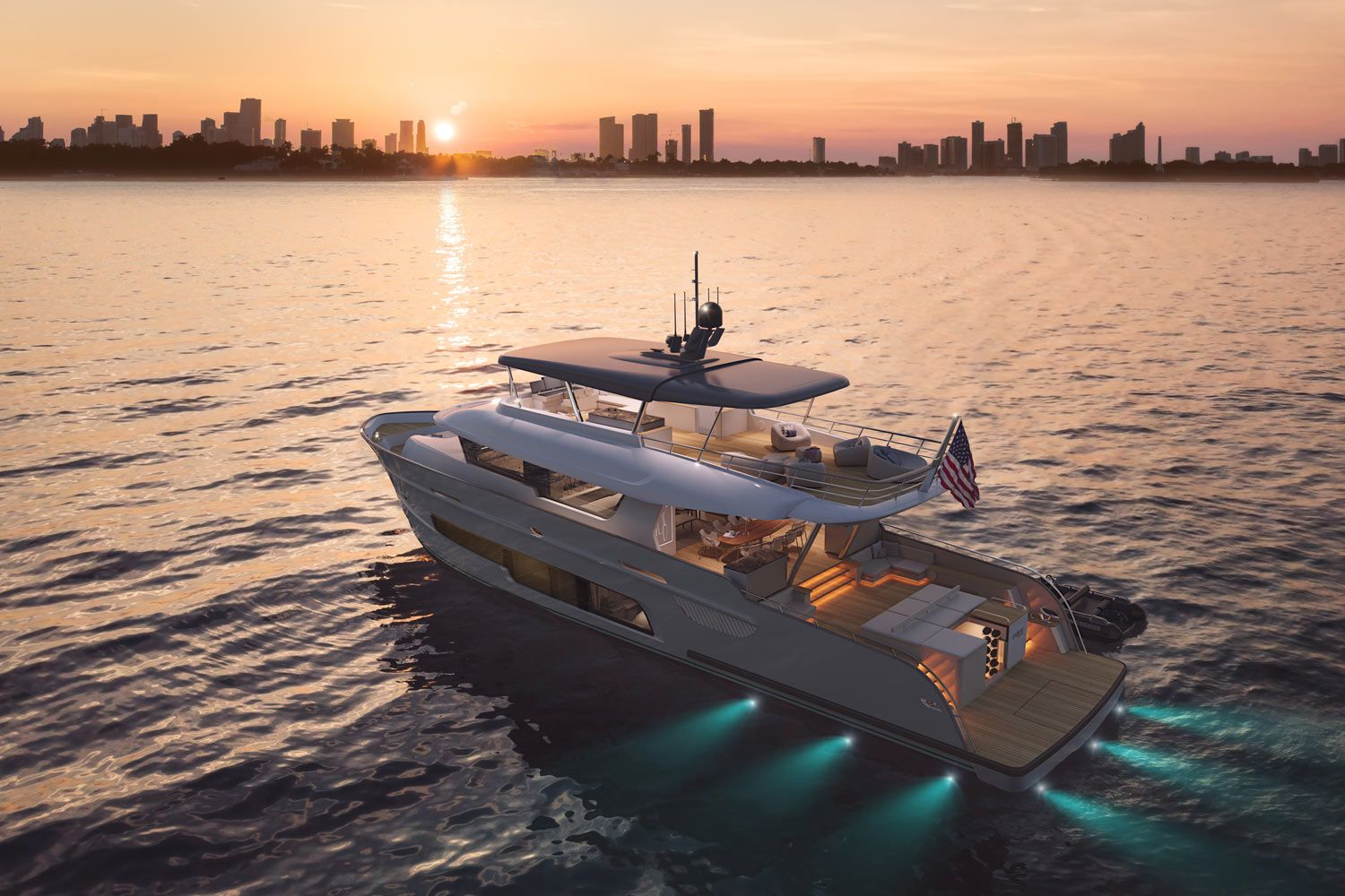 The LeVen 90 can reportedly cruise at 23 knots for 400 nautical miles and has a reported top speed of 26 knots.