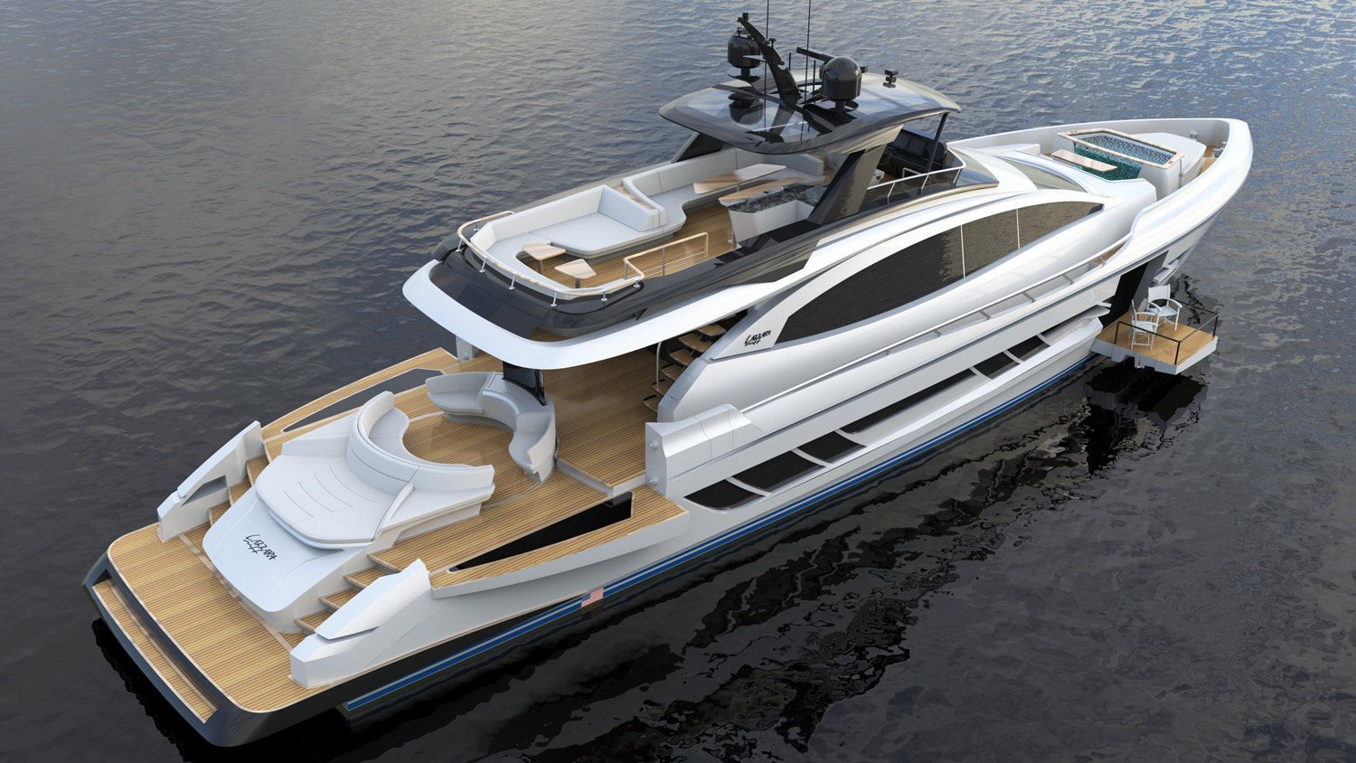The LSY 95 is a 95-footer that can cruise at 28 knots for 450 nautical miles.