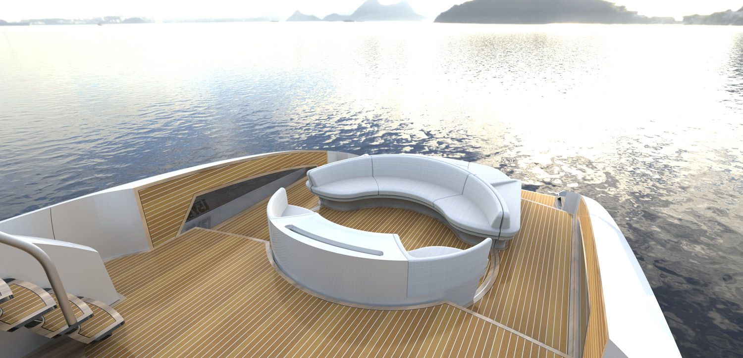The LSY 95 has a 360-degree, electronically rotating couch.