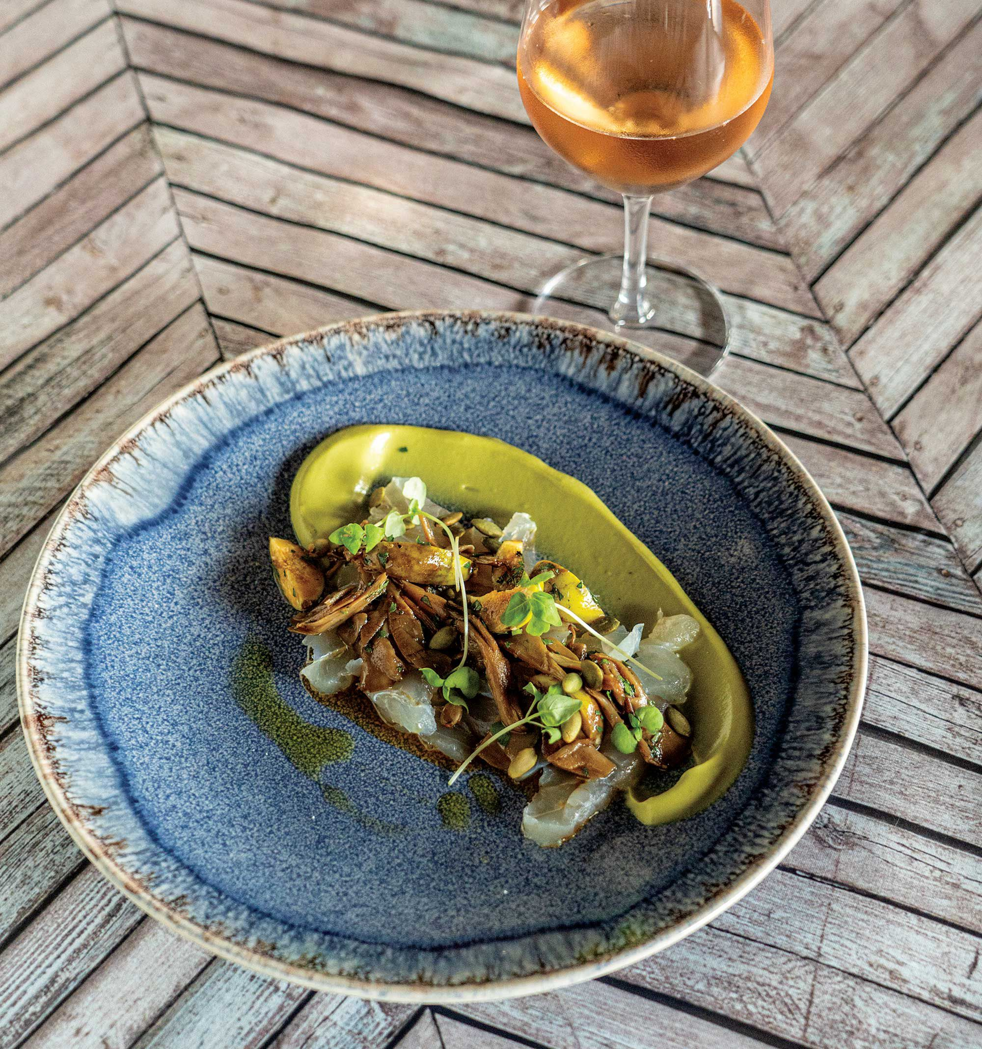 Serve with a glass of chilled Muga, or similar light rosé wine.