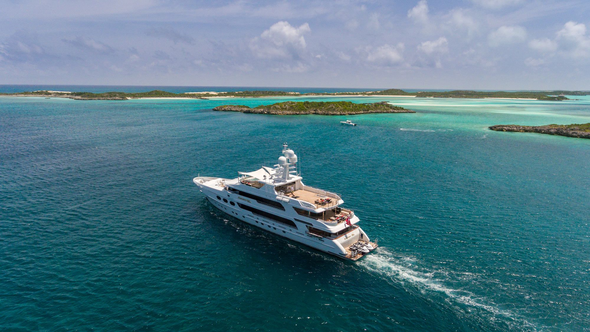 The 162-foot Christensen <em>Remember When</em> will offer summer 2020 charters in the Bahamas.