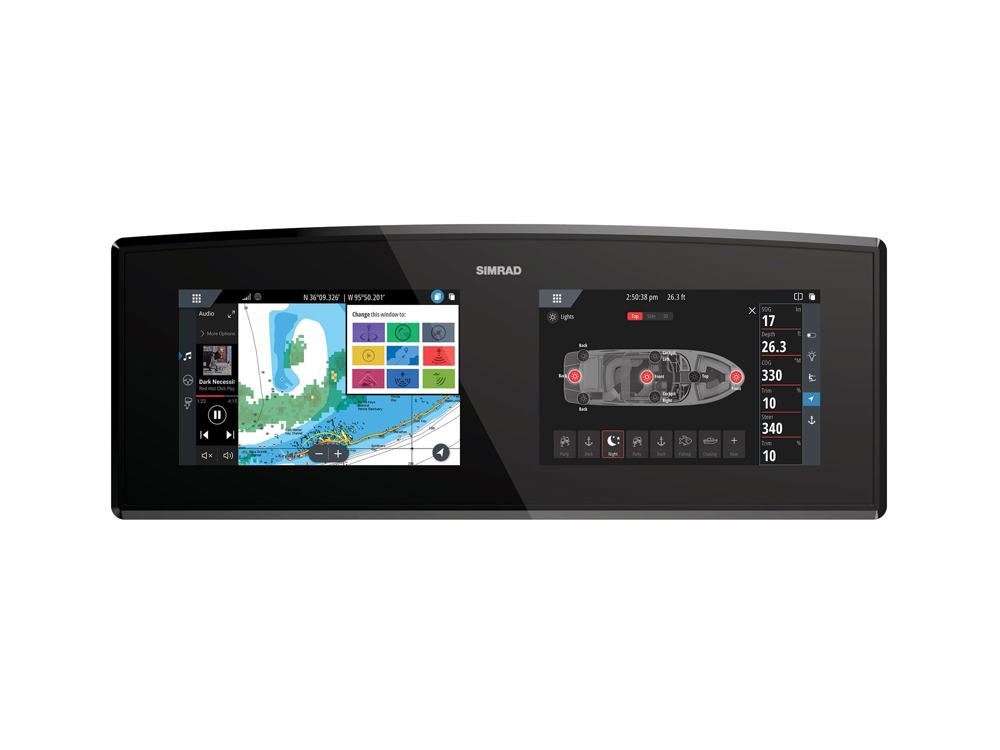 Navico's Information Display system gives boatbuilders a new way of integrating, monitoring and controlling instrumentation, switching and onboard systems.