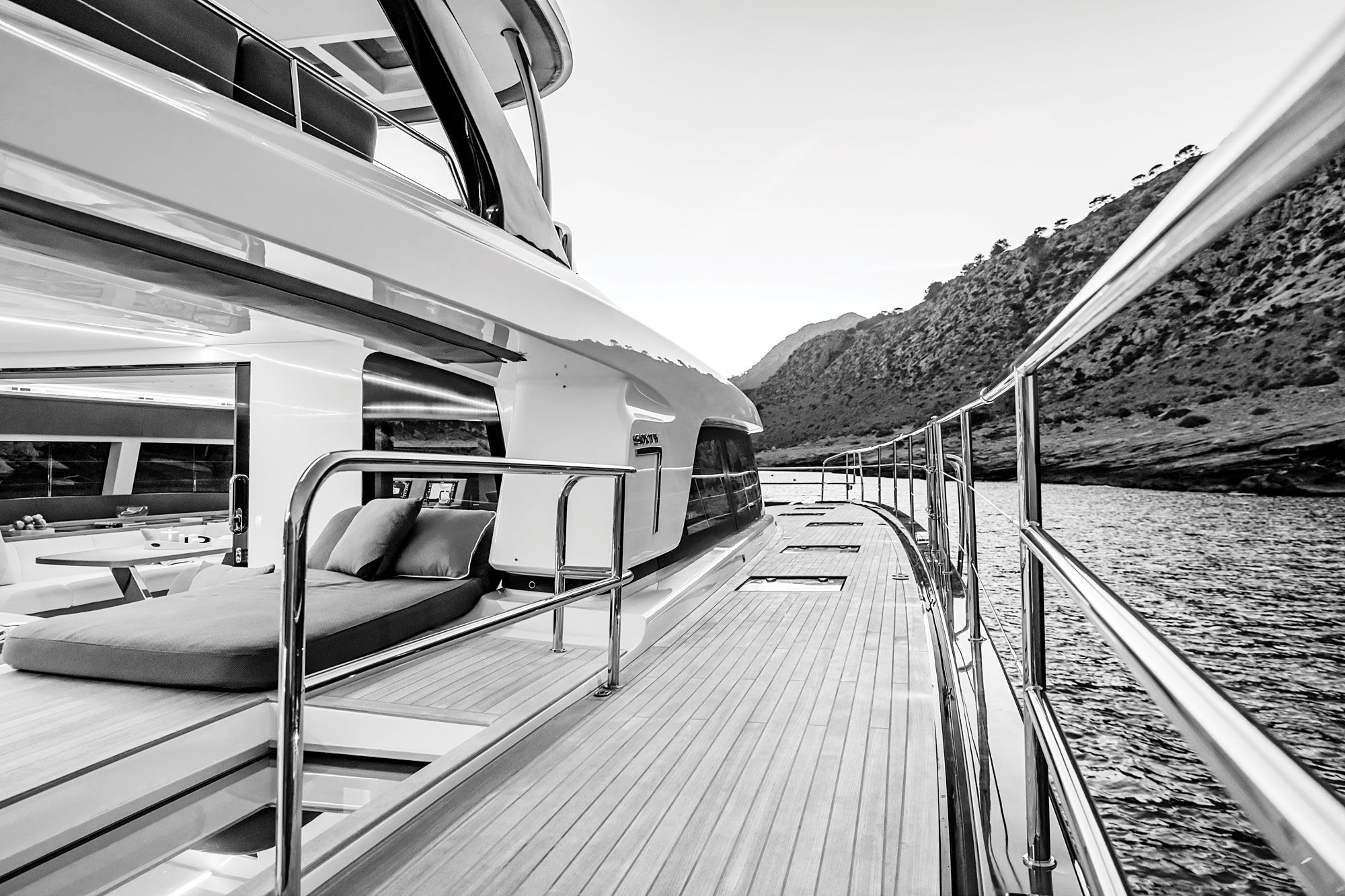 The builder says its new catamarans have about 30 percent more floor space than earlier models.