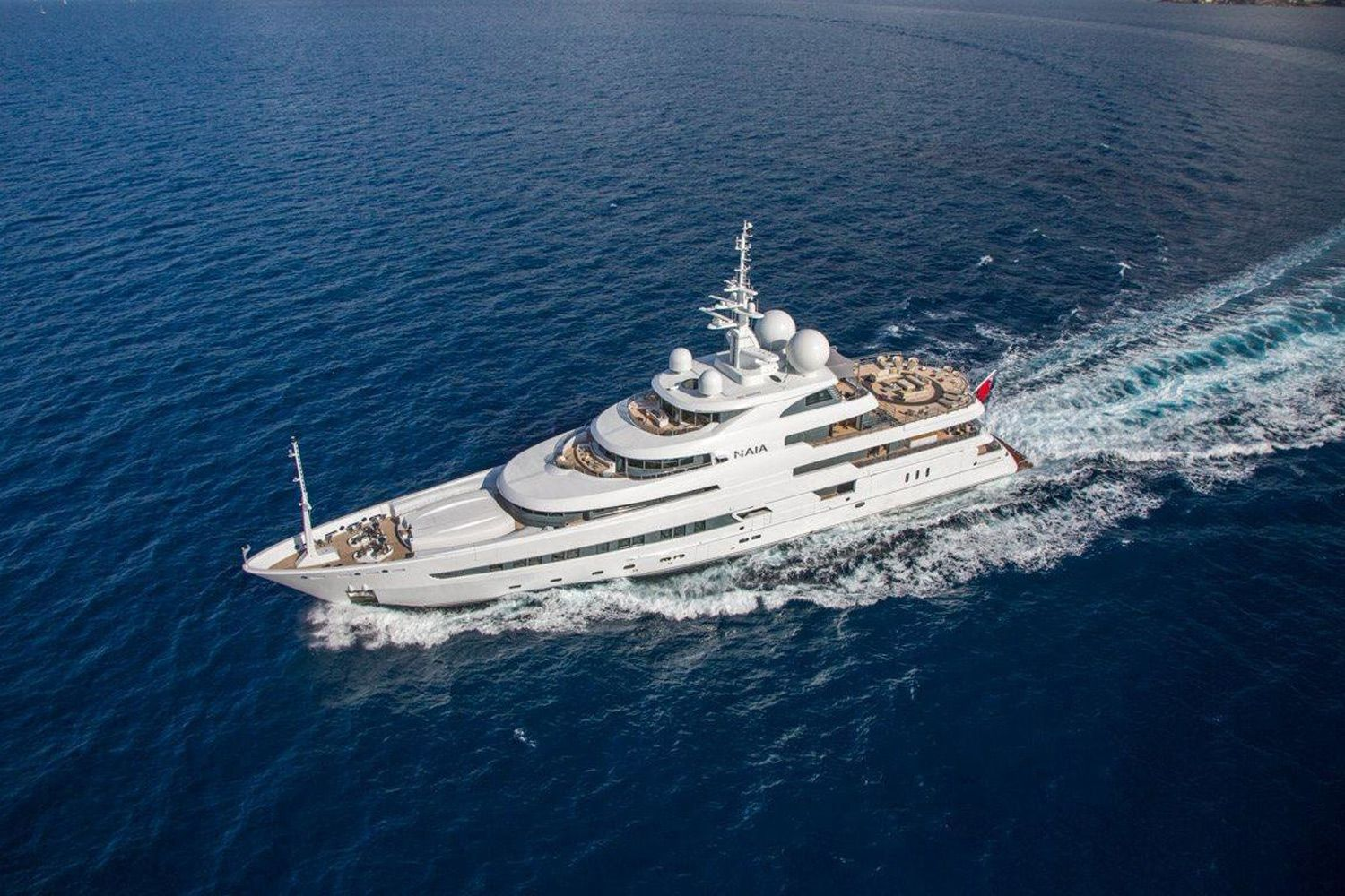 The 241-foot <i>Naia</i> is available for charter this November in Patagonia at a weekly base rate of $695,000.