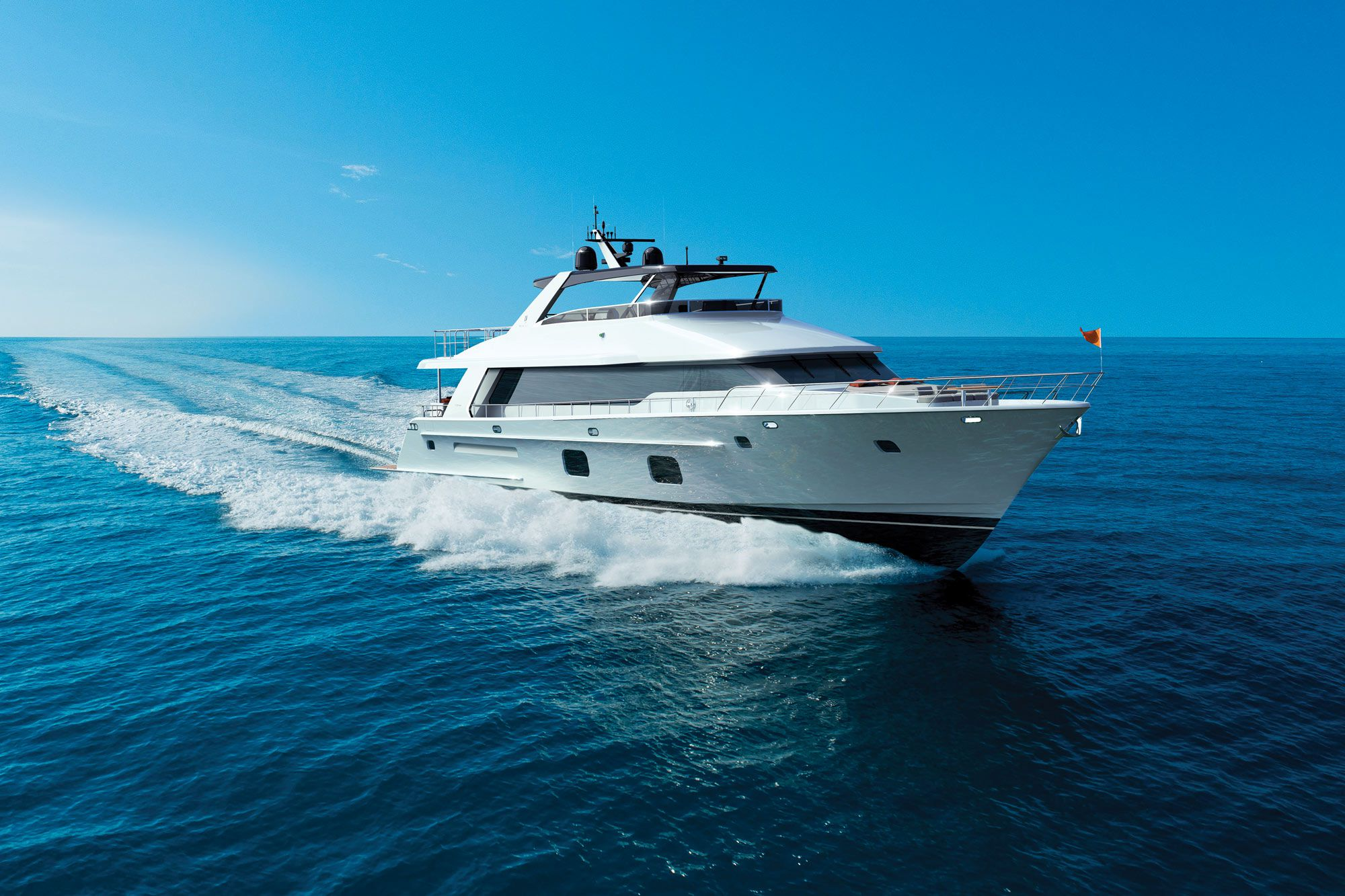 The CLB88 is the first new model for CL Yachts. A 96-footer is under construction.