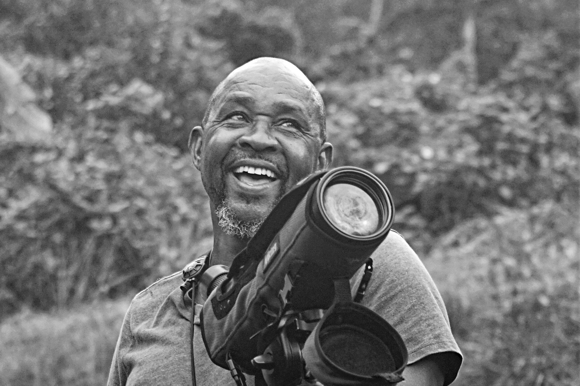 Bird expert Bertrand Jno Baptiste helps visitors to Dominica discover the island's abundant winged wildlife.