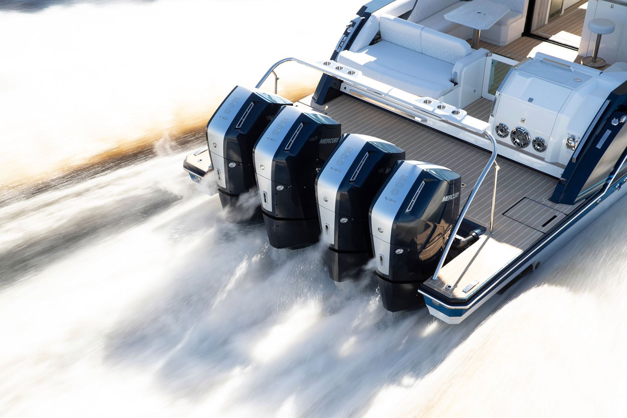 Mercury's new 600hp Verado is the perfect choice for powering many of today's big fishing machines.