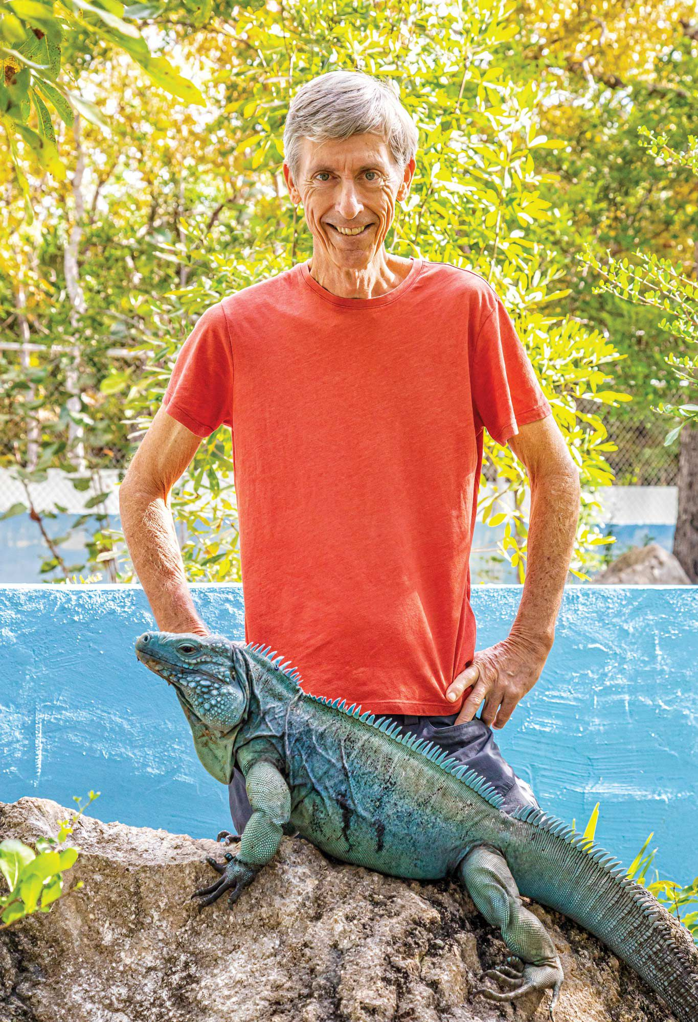 Fred Burton helped rescue the Cayman Islands blue iguana from the brink of extinction.