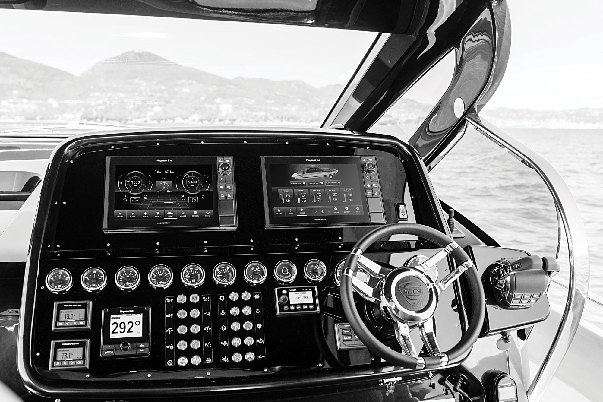 Raymarine's YachtSense offers adjustable levels of onboard digital control and automation.